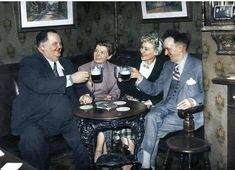 'Laurel and Hardy with their wives, they visited Liverpool three times, Ma Egerton's ???? Back of the Empire