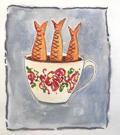 kopje onder Mugs, Tableware, Illustration, Dinnerware, Tumblers, Tablewares, Illustrations, Mug, Dishes