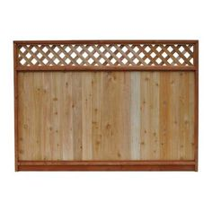 68 1/2 in. x 8 ft. Western Red Cedar Lattice Top Fence Panel $54.97 White Cabinets White Countertops, Stone Countertops, Home Improvement Projects, Home Projects, Home Depot, Cedar Fence Boards, Wood Fences, Privacy Fences, Fence With Lattice Top