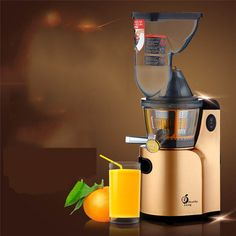 FREE SHIPPING large wide mouth feed chute whole apple slow juicer  low speed Fruits juice Extractor Squeezer