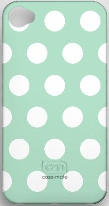 mint polka dot iphone 4S case