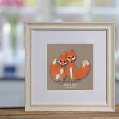 Cute Foxes personalised print £48