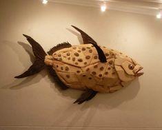 Driftwood Fish, Driftwood Sculpture, Sculpture Art, Sculptures, Fish Gallery, Fish Art, Wood Pieces, Wood Art, Wood Crafts