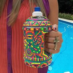 Puff Paint Water Bottle