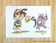 Terrapin and Toad: Sketchbook doodles - Cave Girl With Dodo #terrapinandtoad