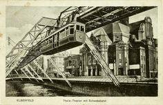 Historische Ansichtskarte / vintage picture postcard. Schwebebahn / Suspension monorail car am Thalia-Theater