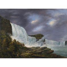 New-York Historical Society | Niagara Falls by Louisa Davis Minot 1818 [Seen at LACMA 6/6/15 Nature and the American Vision: The Hudson River School]