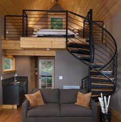 Easy to Build Tiny House Plans! This tiny house design-build video workshop shows how… Sweet Home, Interior Architecture, Interior Design, Modern Interior, Interior Ideas, Tiny Spaces, Tiny House Living, Rest House, Living Room