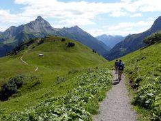 Warth-Lech met zicht op Biberkopf