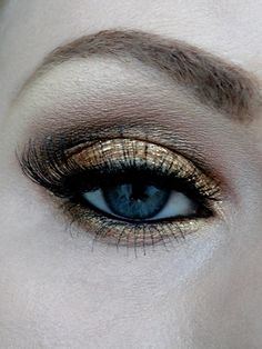 Gold and black eyeshadow