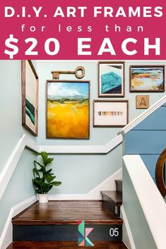 Art can totally transform a home and is worth investing in. Stretch your budget as far as you can by making your own DIY wood frames. This step-by-step tutorial will give you great ideas for displaying your favorite large art and pictures! #DIYframes #DIYpictureframes #DIYposterframes #frameideas #easyDIYframes #largeDIYframes #frames #wallart #easylargeframes