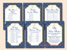 prince baby shower game printables, royal prince baby shower games, prince themed, tlc109