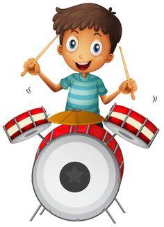 View album on Yandex. Drawing For Kids, Art For Kids, Desenho Kids, Drum Lessons For Kids, Gretsch Drums, Cute Clipart, Music Clipart, Clip Art, Music Party