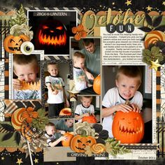 Used the following from the Sweet Shoppe: Template: Take Nine by Cindy Schneider Fall-o-ween Collection by Studio Flergs