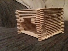 neat looking gerbil play structure/ hideout Diy Hamster Toys, Gerbil Toys, Hamster Life, Hamster Habitat, Rat Toys, Hamster House, Guinea Pig Toys, Guinea Pigs, Hamster Stuff