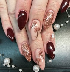 Beste Nageldesigns im Trend - Nail For Site Fancy Nails, Love Nails, Pretty Nails, My Nails, Elegant Nails, Stylish Nails, Manicure E Pedicure, Beautiful Nail Designs, Accent Nails