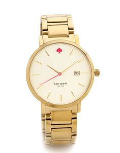 kate spade watch. i want this watch so bad. i just think the style of it is sooo sleek and classy