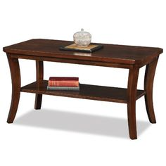 LEICK FURNITURE BOA COLLECTION SOLID WOOD CONDO/APARTMENT COFFEE TABLE  - Click image twice for more info - See a larger selection of wood coffee tables at  http://zcoffeetables.com/product-category/wood-coffee-tables/ - home, home decor, home ideas, living room, furniture, tables,gift ideas