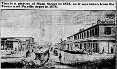 FORT WORTH: This 1878 photo printed in the 1903 Telegram shows a mule-drawn streetcar on Main Street. In 1883 more track was laid downtown. By 1884 Fort Worth Street Railway Company had lost its city monopoly, and the competing Rosedale line began, running from the driving park through downtown to Missouri Pacific Infirmary, the railroad hospital south of town that would become St. Joseph's Hospital.