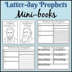 LDS Notebooking: Latter-Day Prophets Mini-Books