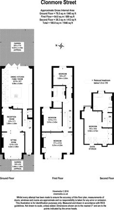 4 bedroom terraced house for sale in Clonmore Street, London, - Rightmove House Extension Plans, Rear Extension, Brownstone Interiors, Scottish Cottages, Terrace Floor, Sims House Design, Kitchen Floor Plans, Floor Layout, House Extensions
