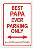 A great Father's Day Gift or birthday gift for Papa. This lightweight metal is rigid and durable. This sign is pre-drilled for easy hanging both indoo