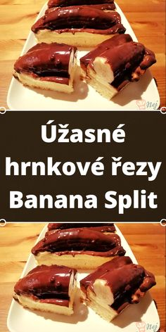 Úžasné hrnkové řezy Banana Split Banana Split, Waffles, Breakfast, Desserts, Food, Morning Coffee, Tailgate Desserts, Deserts, Essen