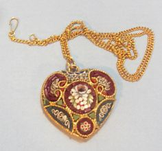 Large Micromosaic Heart Pendant From Spain #unbranded #Pendant