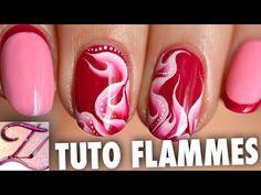 Tuto nail art flammes one stroke abstrait