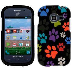 Samsung Galaxy Centura Multi Dog Paws on Black Phone Case Cover TrekCovers http://www.amazon.com/dp/B00E4VT3UO/ref=cm_sw_r_pi_dp_fMMHub0QZMJHB