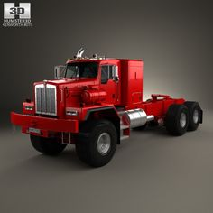 Kenworth C500 Tractor Truck 2001 3d model from humster3d.com. Price: $75