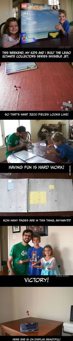 He and his kids built the Lego Invisible Jet!