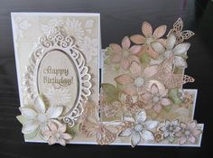 Stepper card with Sun Kissed Fleur by Heartfelt Creations