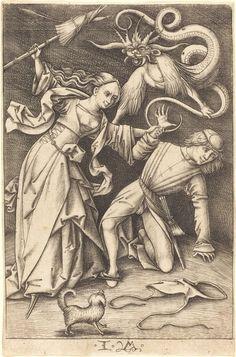 Israhel van Meckenem, 'The Angry Wife', ca. 1495/1503, National Gallery of Art, Washington, D.C. | Artsy