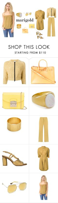 """Marigold..**"" by yagna ❤ liked on Polyvore featuring Brunello Cucinelli, Mansur Gavriel, Furla, Jacquie Aiche, Maya Magal, EGREY, Roberto Del Carlo, Sonia Rykiel, Grey Ant and Intropia"