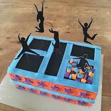 Image result for trampoline cake ideas
