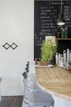 chalkboard + kitchen 'bar'
