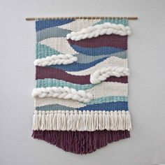 Custom Made To Order Large Wall Weaving Wall Hanging Woven Weaving Wall Hanging, Weaving Art, Loom Weaving, Tapestry Weaving, Wall Tapestry, Hand Weaving, Weaving Textiles, Wall Hangings, Weaving Designs