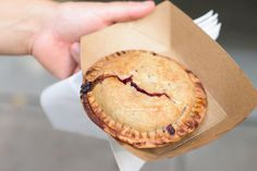 Sara's Tipsy Pies | $5 | Rhubarb Blue Hunny Do A fruity summer pie lives or dies by its sweet-tart balance (as we recently discovered at our grandiose Nordic Ware pie tasting.) But this pie was all tart with little depth of flavor to complicate it, or sweetness to moderate it. — J.N.