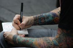 While drawing...  Tattoo