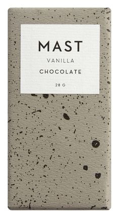 Milk chocolate blended with whole Bourbon vanilla beans 60% cacao, cane sugar, cocoa butter, buttermilk powder, vanilla beans Cacao origin: Madagascar