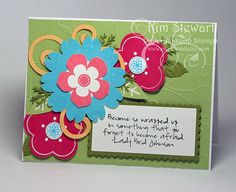 Stampin Up's Petal Pizazz & Paper Makeup Stamps (wordart)