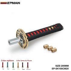 EPMAN-JDM Katana Shift Knob 200mm For Automobile Spare Part Speed Chrome Samurai Sword Sword Handle For VW Passat EP-SK100CM20 #Affiliate