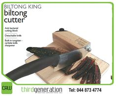 Don't struggle with blunt knives to cut biltong. Get yourself a biltong cutter, available from Generation Photo, Biltong, Knives, Decor, Decoration, Knife Making, Knifes, Decorating, Deco