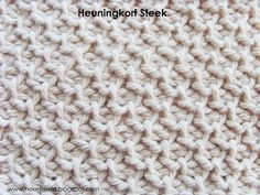 Hekel Idees: Tutoriaal: Tunisiese Hekel: Heuningkorf Steek [Honeycomb Stitch]