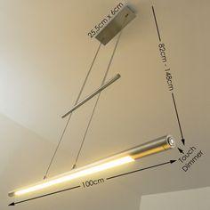 Design LED Hängeleuchte Leuchte Pendelleuchte Esszimmer Pendellampe mit Dimmer…