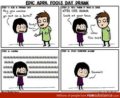 Not so clever April fools day prank