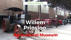 The Willem Prinsloo Agricultural Museum is Located on the Farm Kaalfontein, around 30 kilometers (half an hour's drive) from Pretoria. The museum displays the progress and history of agriculture in South Africa from the Stone Age until 1945.  Discover the Willem Prinsloo Agricultural Museum History Of Agriculture, Museum Displays, Pretoria, Stone Age, Africa Travel, Heritage Site, Guide Book, Travel Guide, South Africa