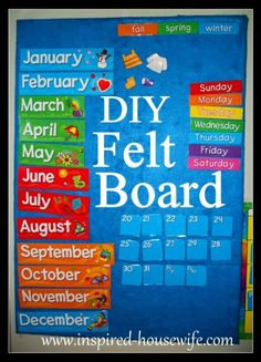 Inspired-Housewife: DIY Felt Board Tutorial (Making this for our Sunday school class)
