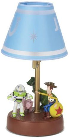Telemania 508378 TOY_STORY_LAMP, Talking Toy Story Lamp, Buzz and Woody talk and move with ON/OFF and demo button, Sound ON/OFF feature (508 378  508-378 TOYSTORYLAMP TOY STORY LAMP)